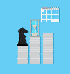 strategy time and finance vector image