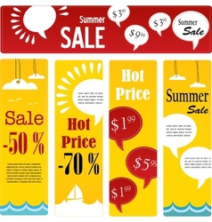 summer sale tags set with speech vector image