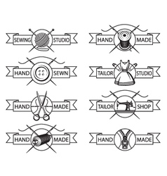 tailor labels vector image vector image