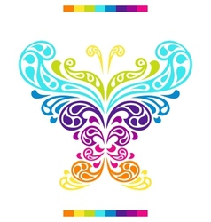 Butterfly in shape of abstract splashes drops vector image