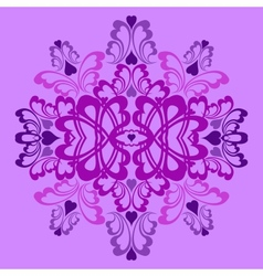 Lilac heart pattern vector image