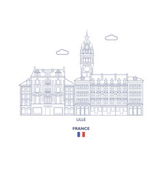 Lille city skyline vector