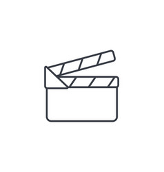 movie clapperboard thin line icon linear vector image
