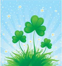 patrick spring background vector image