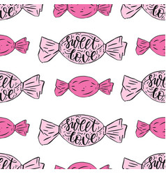 seamless pattern with handwritten quote vector image