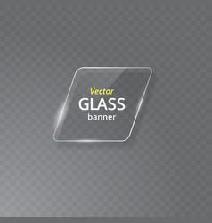 transparent glass plate mock up see through vector image