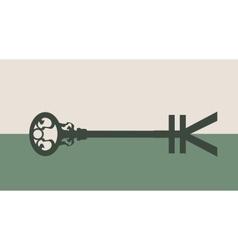 Yen Symbol on key vector image vector image