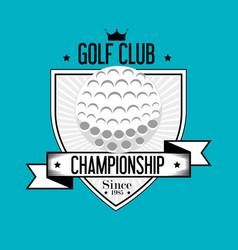 Golf sport ball emblem icon vector