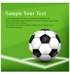 green background ball 10 SS v vector image