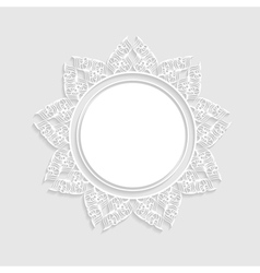 light background with a frame vector image vector image
