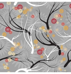 set patterns with branches vector image