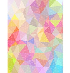Sweet color triangle and circle texture background vector image vector image