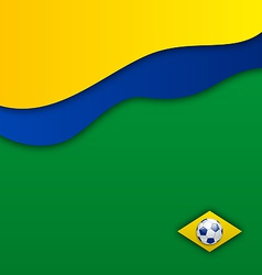 Abstract wavy background in Brazil flag concept vector image