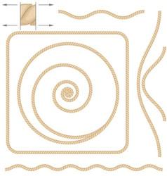 Beige rope elements vector
