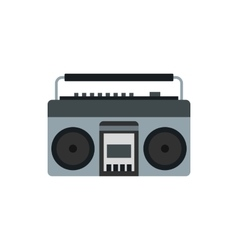 Boom box or radio cassette tape player icon vector image