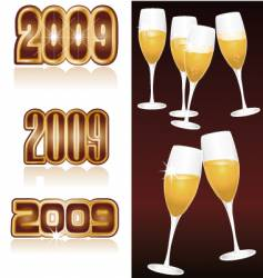 champagne 2009 vector image vector image
