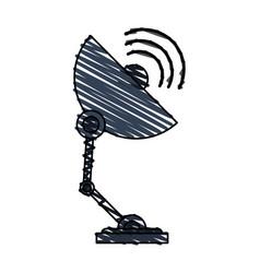 Color crayon stripe image satellite antenna vector