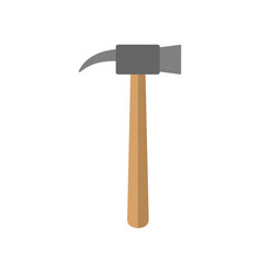 hammer isolated tool on white background vector image vector image