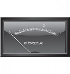kilovolts gauge vector image