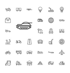 33 transport icons vector