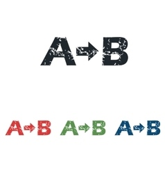 A-B grunge icon set vector