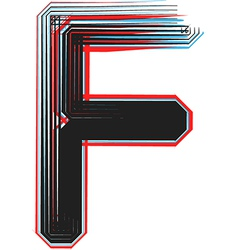 abstract font letter f vector image