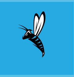 aggressive bee or wasp mascot design template vector image