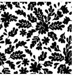 Angelica floral bw pattern vector