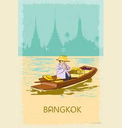 Bangkok retro poster vector