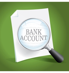 Bank Account vector image vector image