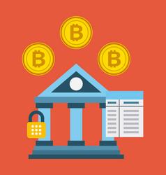 banking bitcoin concept security password code vector image