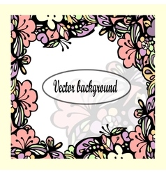Beautiful floral frame with text vector image