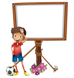 Board design with soccer player vector