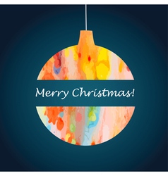 Christmas abstract watercolor ball vector