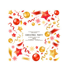 Christmas party or dinner invitation vector