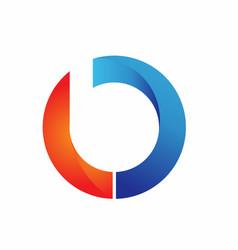 Circle b logo design template vector