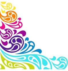 Color splash waves abstract background vector image