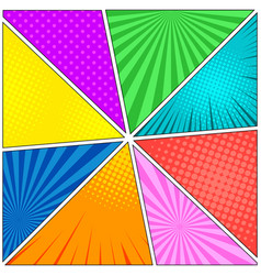 Comic book eight colorful backgrounds vector