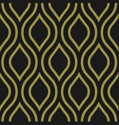 decorative seamless pattern art deco style vector image