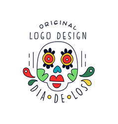 dia de los original logo design traditional vector image