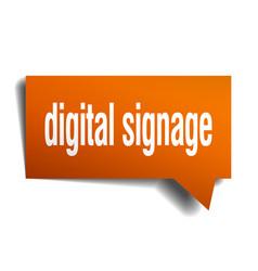 Digital signage orange 3d speech bubble vector