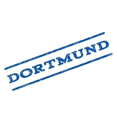 Dortmund Watermark Stamp vector