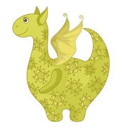 dragon symbol east new years vector image