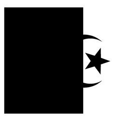 flag of algeria 2009 vintage vector image