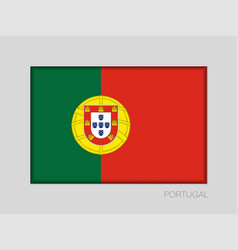 Flag of portugal national ensign aspect ratio 2 vector