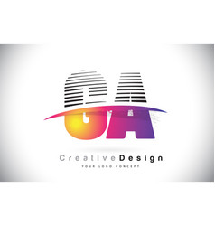 Ga g a letter logo design with creative lines vector