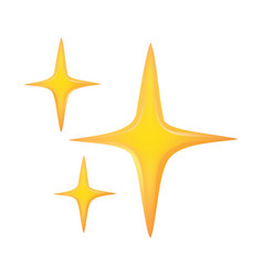 Golden spark icon on white isolated background vector