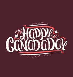 Greeting card for canada day vector