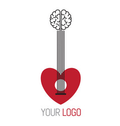 Guitar music concept logo vector