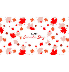 happy canada day pbanner and poster 1st july vector image
